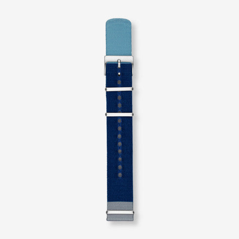20mm Standard NATO Nylon Watch Strap,Gray/Blue/Light Blue
