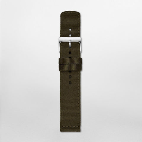 20mm Standard Nylon Watch Strap, Dark Green