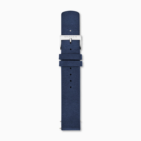 18mm Standard Leather Watch Strap Blue