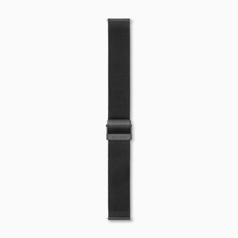 18mm Standard Steel Mesh Watch Strap Black