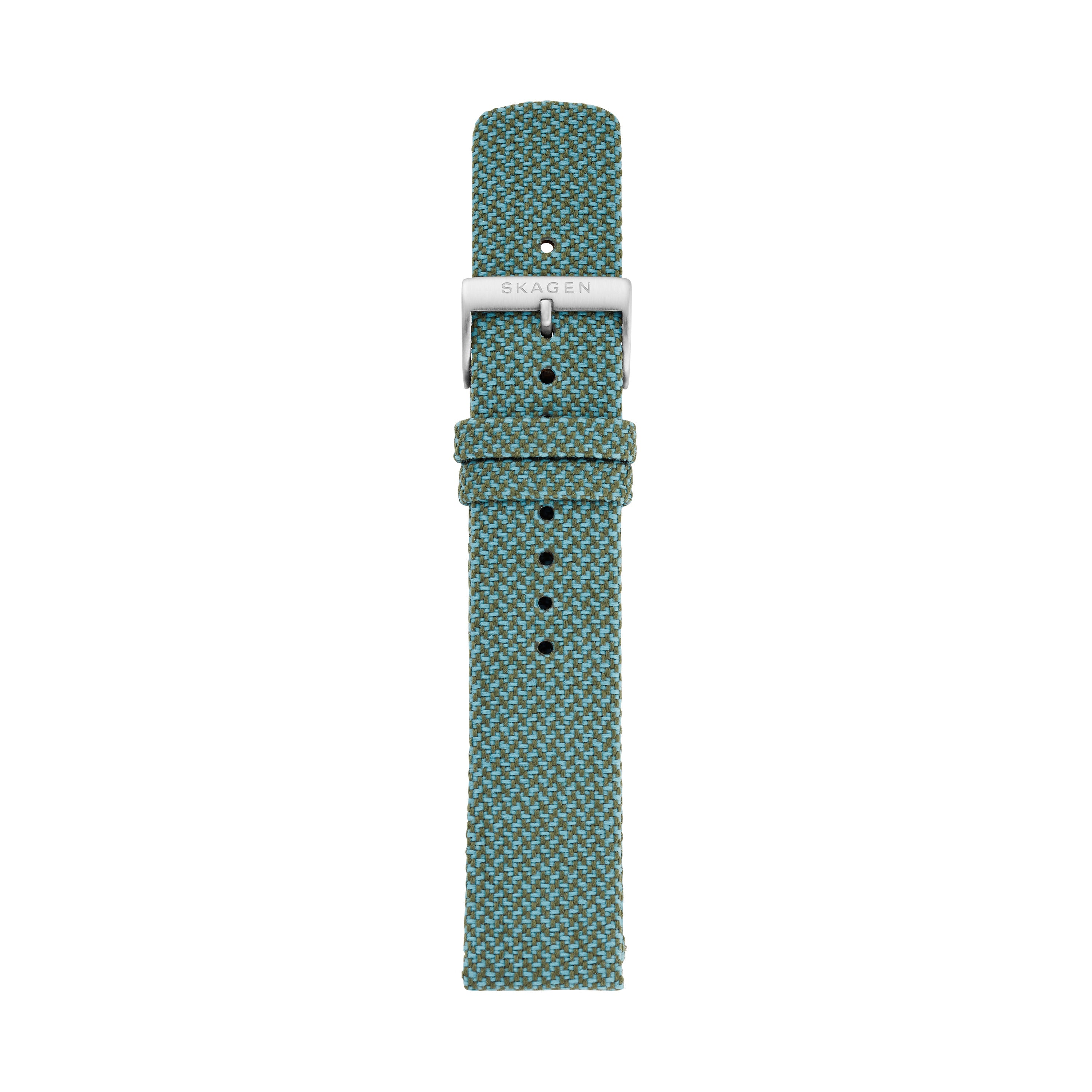 20mm Recycled Woven Strap, Teal
