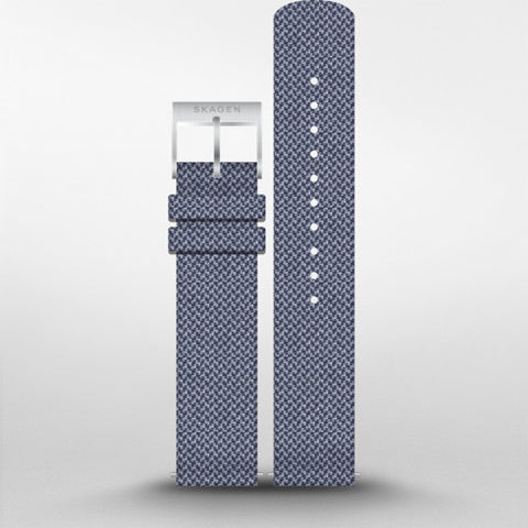20mm Recycled Woven Strap Black/White