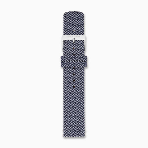 20mm Recycled Woven Strap Blue