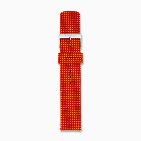20mm Recycled Woven Strap Red