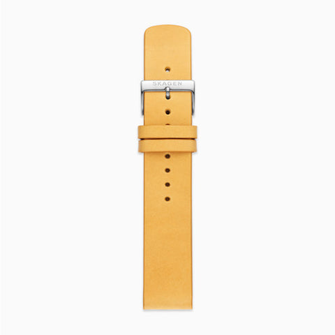 20mm Standard Leather Watch Strap Yellow