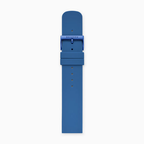 20mm Silicone Watch Strap Blue