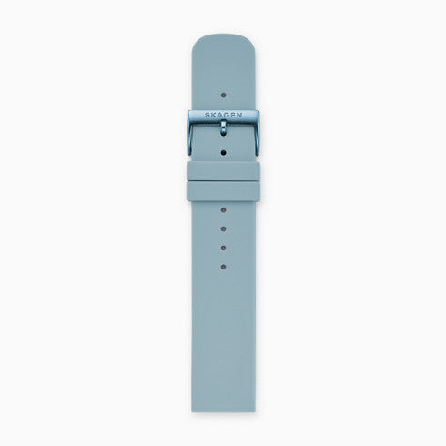 20mm Silicone Watch Strap Light Blue