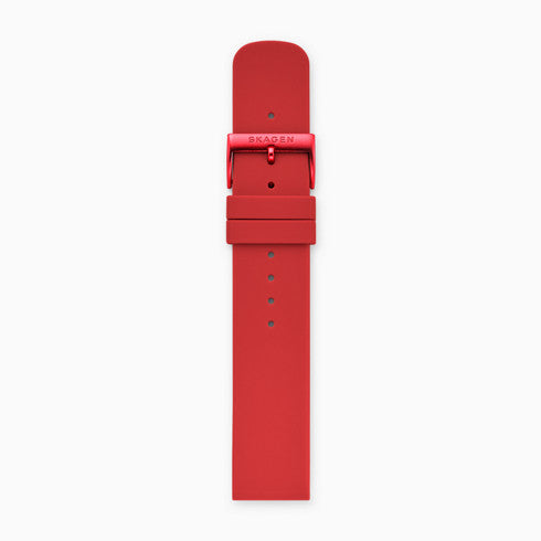 20mm Silicone Watch Strap Red