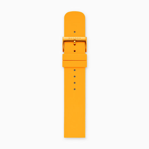 20mm Silicone Watch Strap Yellow