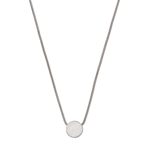 Sea Glass Silver Tone Necklace