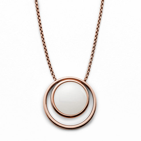 Sea Glass Rose Gold Tone Necklace
