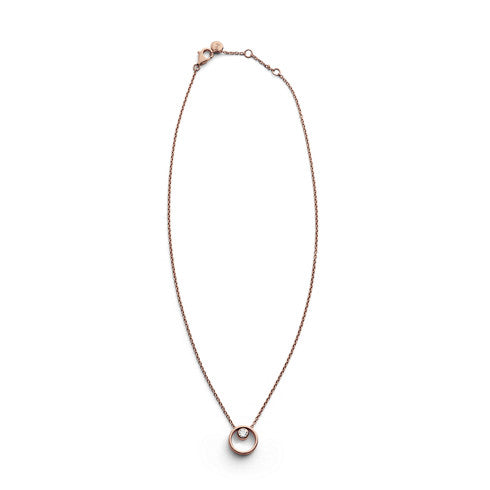 Elin Crystal Circle Necklace
