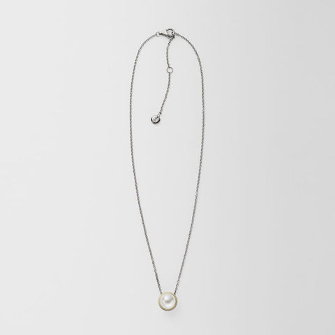 Agnethe Silver-Tone Pearl Pendant Necklace