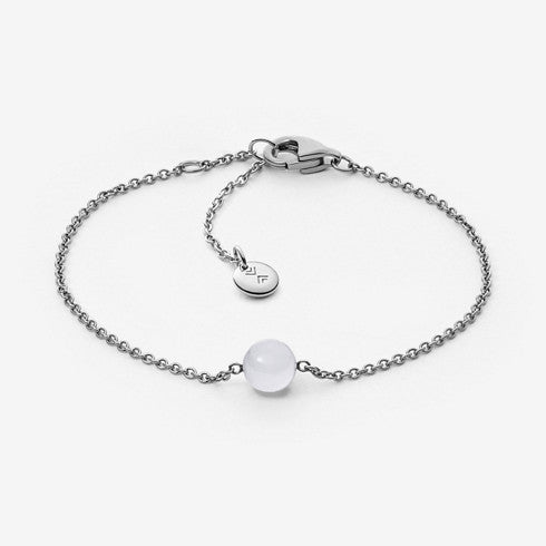 Sea Glass Silver-Tone Pendant Bracelet