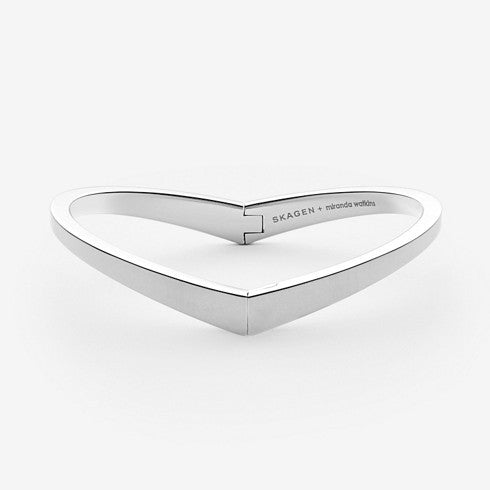 SKAGEN + Miranda Watkins Silver-Tone Hinged Bangle