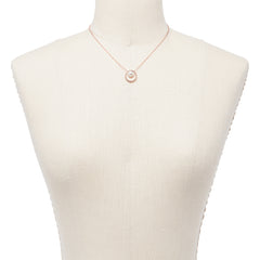 Agnethe Rose Gold Tone Pearl Pendant Necklace