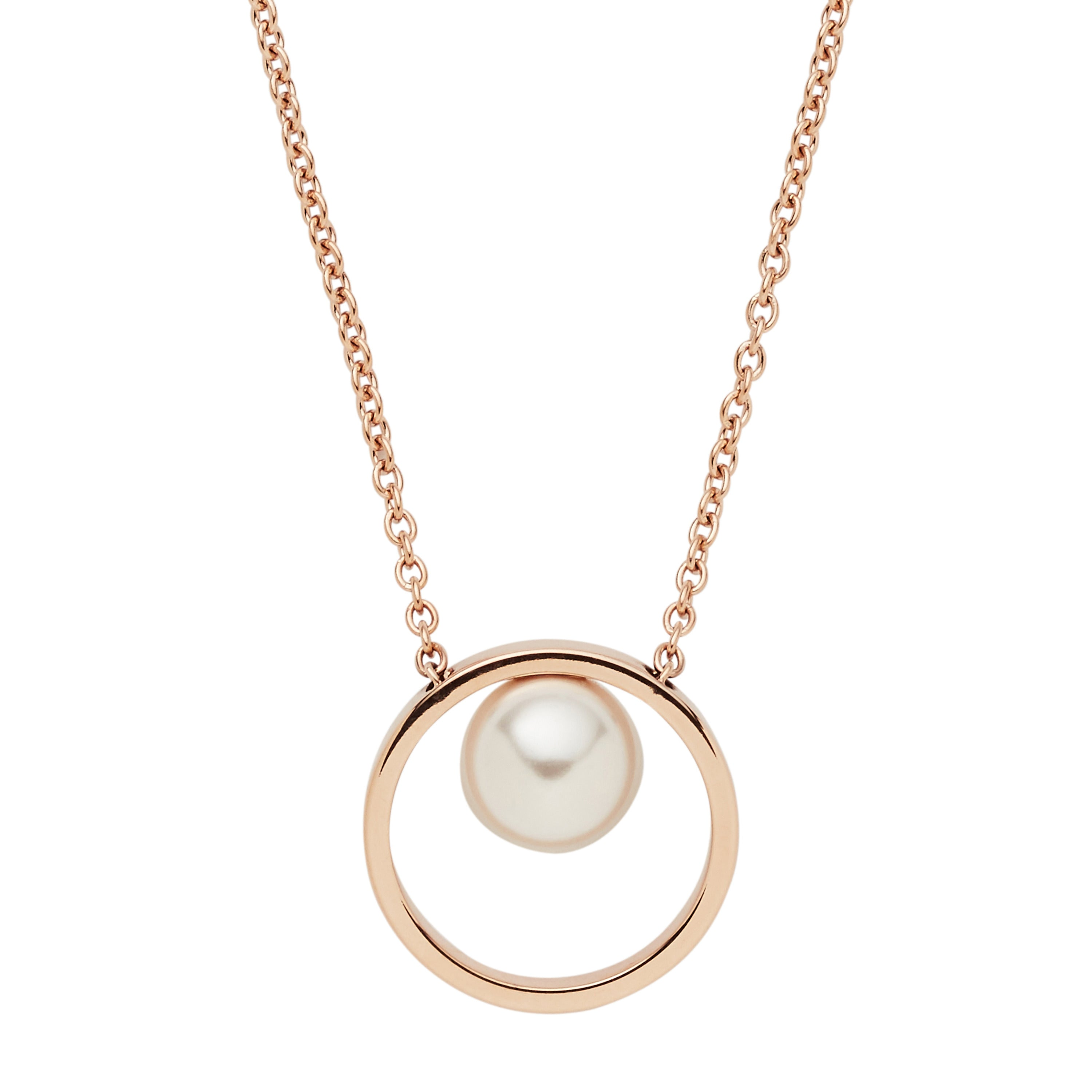 Agnethe rose gold tone pearl pendant necklace skagen agnethe rose gold tone pearl pendant necklace mozeypictures Gallery