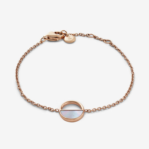 Elin Rose-Gold-Tone and Mother-of-Pearl Bracelet