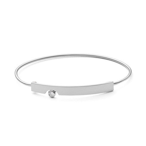 Elin Silver-Tone Crystal Bangle