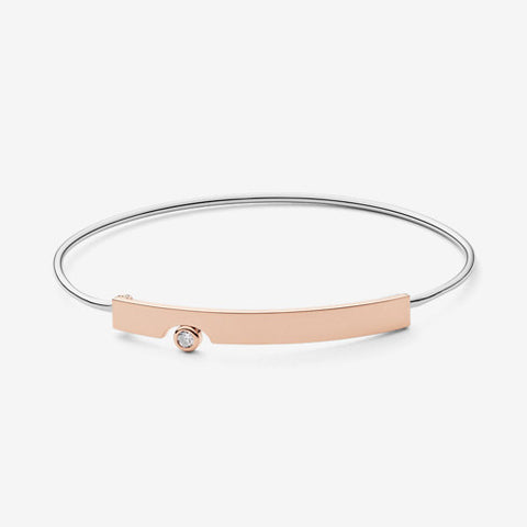 Elin Two-Tone Crystal Bangle