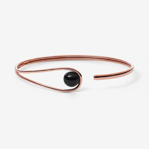 Ellen Rose-Tone and Onyx Bangle