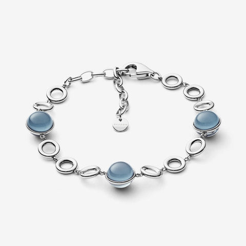 Sea Glass Silver-Tone Bracelet