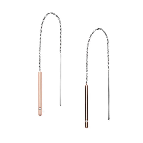 Elin Two Tone Threader Earrings