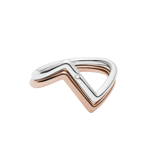Elin Two Tone Stacking Rings