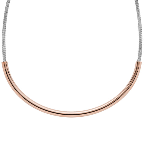 Elin Two Tone Steel Mesh Necklace