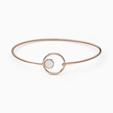 Agnethe Rose Tone Mother of Pearl Bangle