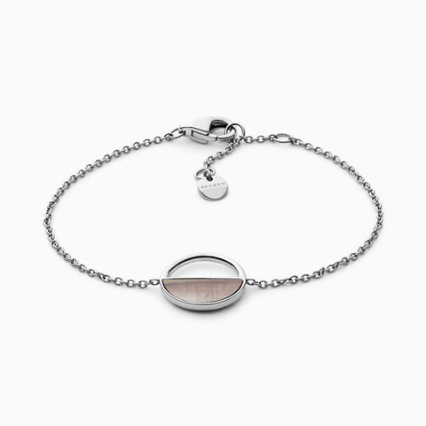 Agnethe Silver Tone and Mother of Pearl Bracelet