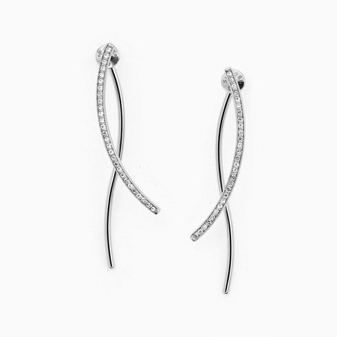 Kariana Silver Tone Crystal Wire Earrings