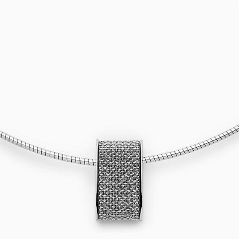 Merete Brilliant Mesh Pendant Necklace