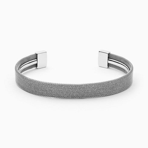 Merete Silver Tone Brilliant Mesh Bangle