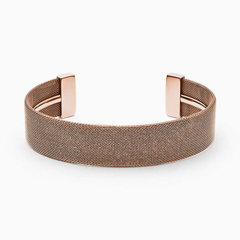 Merete Rose Tone Brilliant Mesh Bangle