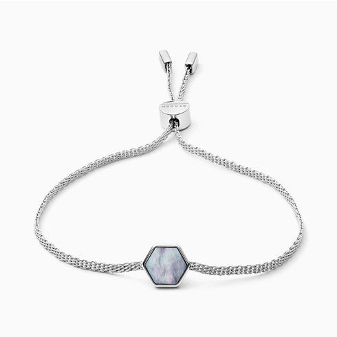 Anette Silver Tone Mother of Pearl Bracelet