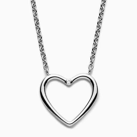 Katrine Diamond Accented Heart Pendant Necklace