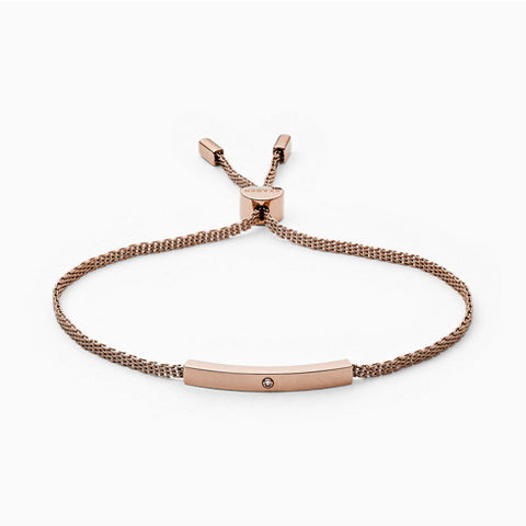 Helena Rose Tone Genuine Diamond Mesh Bracelet