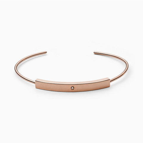 Helena Rose Tone Genuine Diamond Bangle