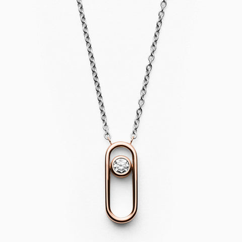 Elin Two Tone Cubic Zirconia Necklace