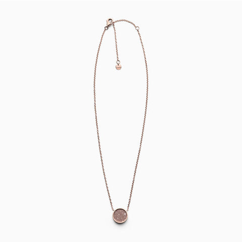 Merete Rose Tone Brilliant Mesh Necklace