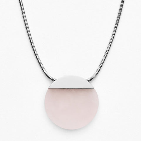 Ellen Rose Quartz Pendant Necklace