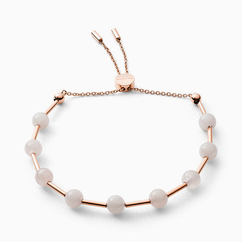 Anette Rose Tone Rose Quartz Beaded Bracelet