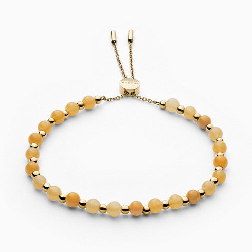 Anette Gold Tone and Yellow Semiprecious Stone Bracelet