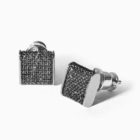 Merete Black Glitz Earrings