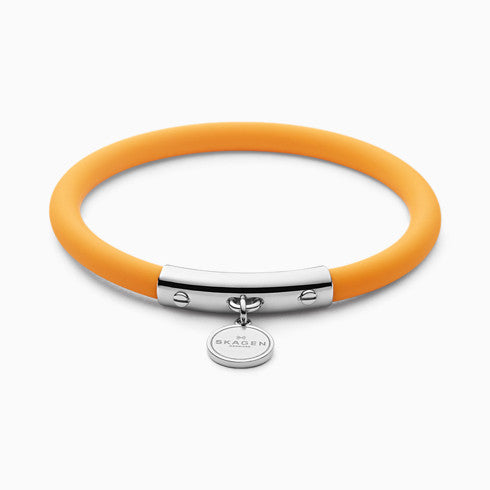 Blakely Yellow Silicone and Silver Tone Bracelet