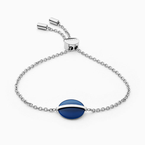 Sea Glass Silver Tone Stainless Steel Bracelet