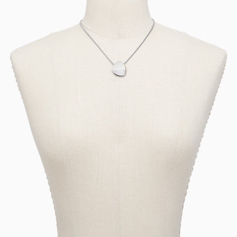 Agnethe Silver Tone Mother of Pearl Necklace