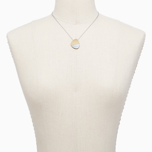 Agnethe Two Tone Mother of Pearl Necklace
