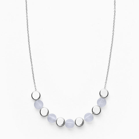 Ellen Silver Tone Stainless Steel Necklace
